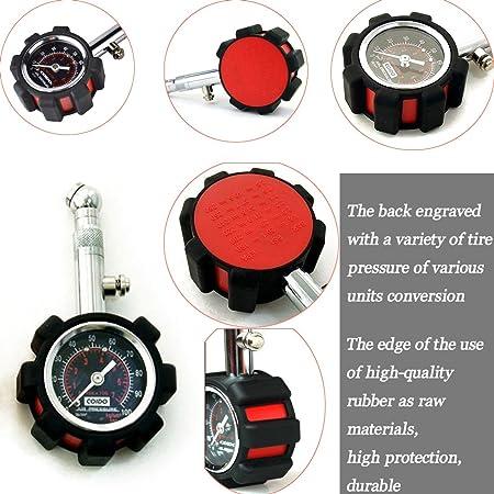 Moto o coche medidor de presión de neumáticos Medidor de presión de neumáticos universal: Amazon.es: Coche y moto