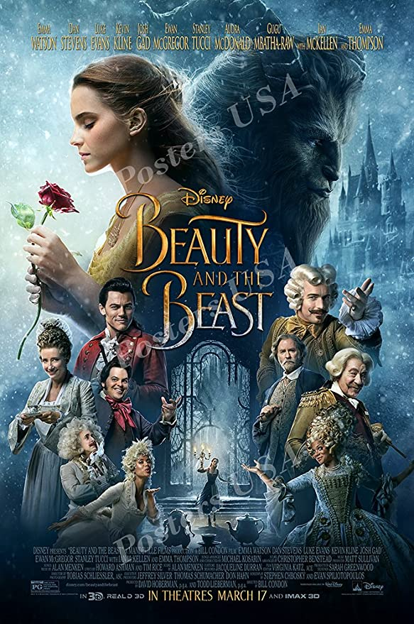 Amazon Com Posters Usa Disney Beauty And The Beast Movie Poster Glossy Finish Mov825 24 X 36 61cm X 91 5cm Posters Prints