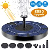 3w Solar Floating Fountain Pump Kit 400L/H,Bird Bath Solar Water Pump Fountain Kit with 6 Nozzles,Rechargeable Battery for Outdoor Garden Pond Swimming Pool