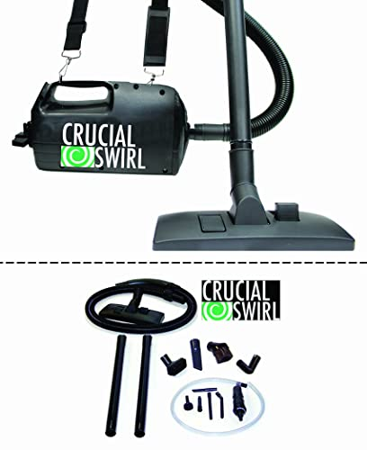 Think Crucial Crucial Swirl 4.5-lb Handheld Vacuum Cleaner, Includes Deluxe Cleaning Attachments Micro Cleaning Attachment Set