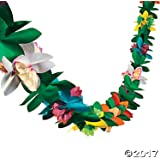 Tissue Flower Garland by Fun Express (4-Pack)