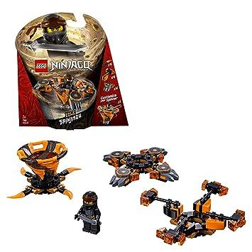 LEGO Ninjago - Spinjitzu Cole, peonza naranja y negra divertida de ninja de juguete (70662)