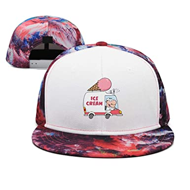 DKTIREEOO Funny Cute ice Cream Truck Hip-hop Flat Brim Hats for Womens and  Mens 0fcfc9b85