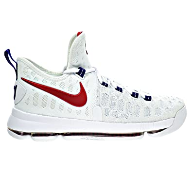 a0a6ab5b5f3e5 Nike Zoom KD 9 quot USA Men s Shoes White University Red Blue 843392-