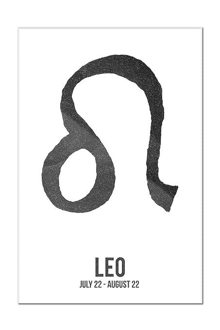Amazon Leo Astrology Zodiac Symbol Ink Drawing 12x18