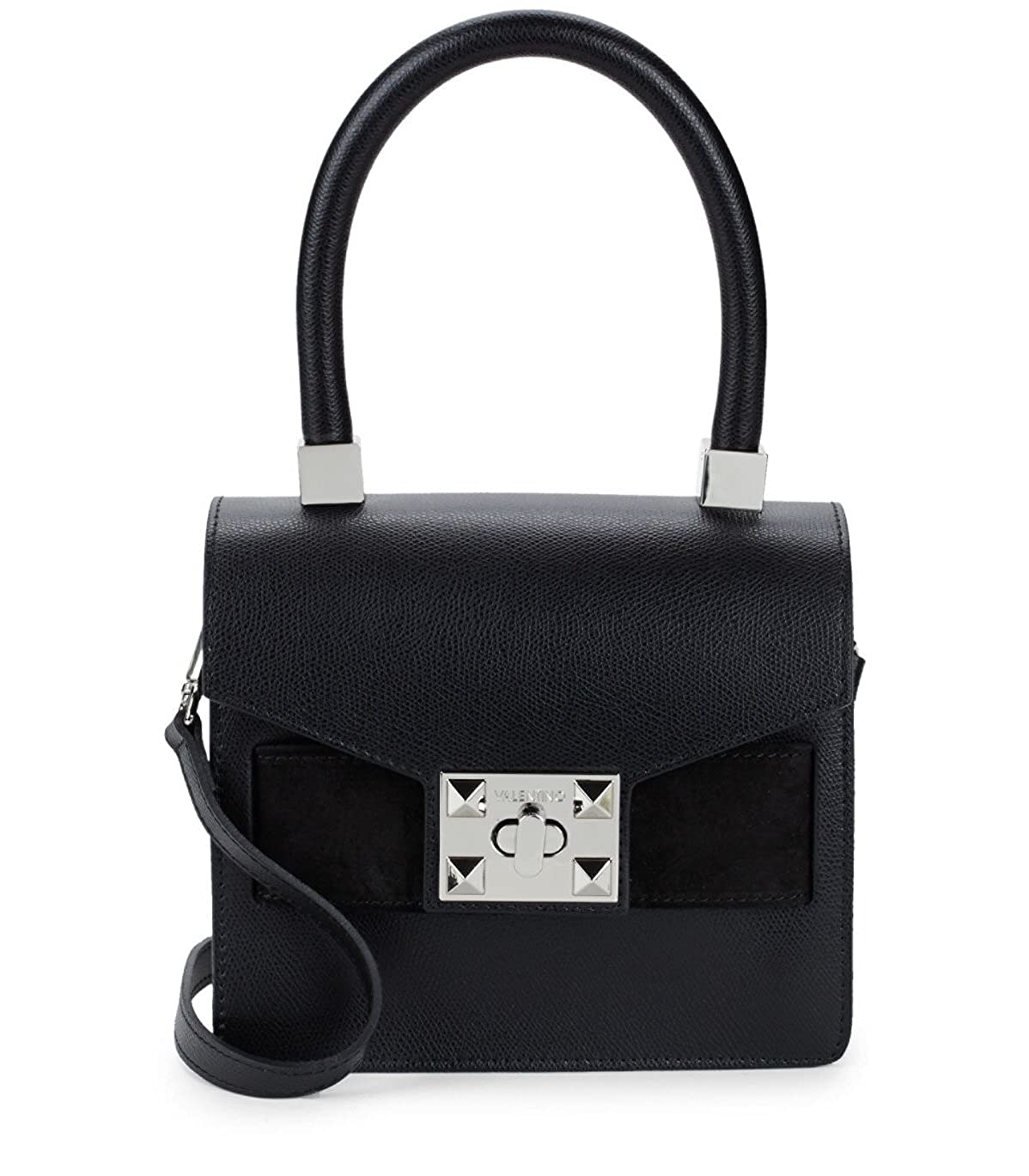 2a513ee0a657 Valentino by Mario Valentino Arlette Leather Crossbody Bag - Black   Handbags  Amazon.com