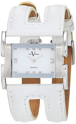 Paul Versan Reloj Análogo clásico para Mujer de Cuarzo con Correa en Cuero PV7201: Amazon.es: Relojes