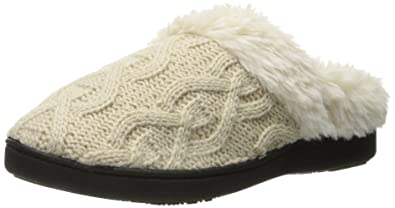 8451076efa4f Isotoner Women s Cable Knit Bridget Clog Slipper