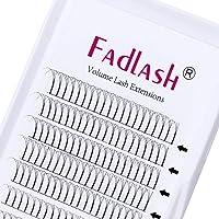 Voorgemaakte Russische Volume Lashes 3D 0.10mm Dikte C Curl 12mm FADLASH Lengte Premade Wimperverlengingen Premade Fans