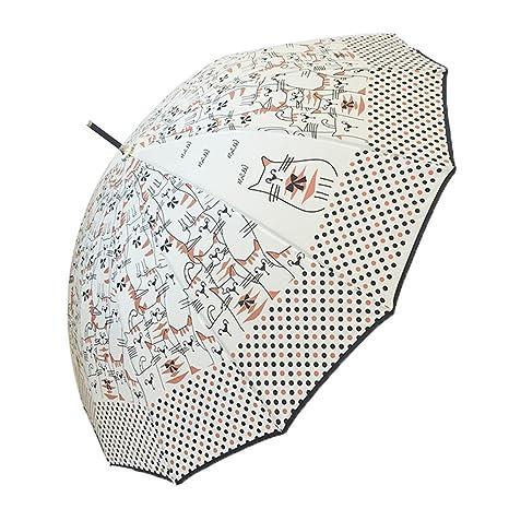 Guoke Paraguas Creativo Personalizado Hembra Pequeño Fresco Y Soleado Lluvia Un Mango Largo Paraguas Automático Paraguas
