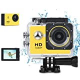 Phankey Kids Digital Camera, Waterproof Camera for Kids Toy for Boy Girls Holiday Birthday Gift with 2.0 Inch LCD Display and 8GB SD Cards