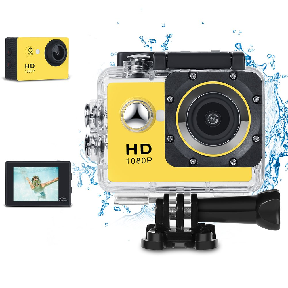 KKlove Kids Digital Camera, Waterproof Camera for Kids Toy for Boy Girls Holiday Birthday Gift with 2.0 Inch LCD Display and 8GB SD Card