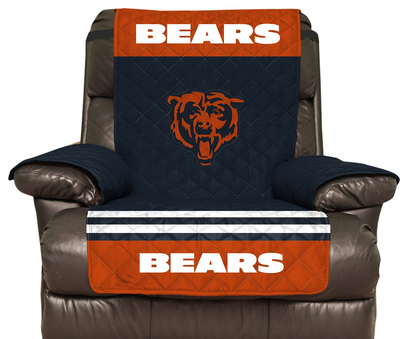 NFLリクライニングリバーシブル家具プロテクター伸縮性ストラップ、80-inches by 65-inches Chicago Bears Chicago Bears B0796HT3SQ