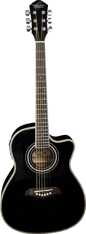 Oscar Schmidt オスカーシュミット OG1CE 3/4-Size Dreadnought Cutaway エレアコ - Black アコースティックギター アコギ ギター (並行輸入)   B005AT3E22