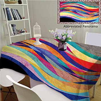74bf501266f4 Amazon.com: Unique Custom Cotton and Linen Tablecloths Bright ...