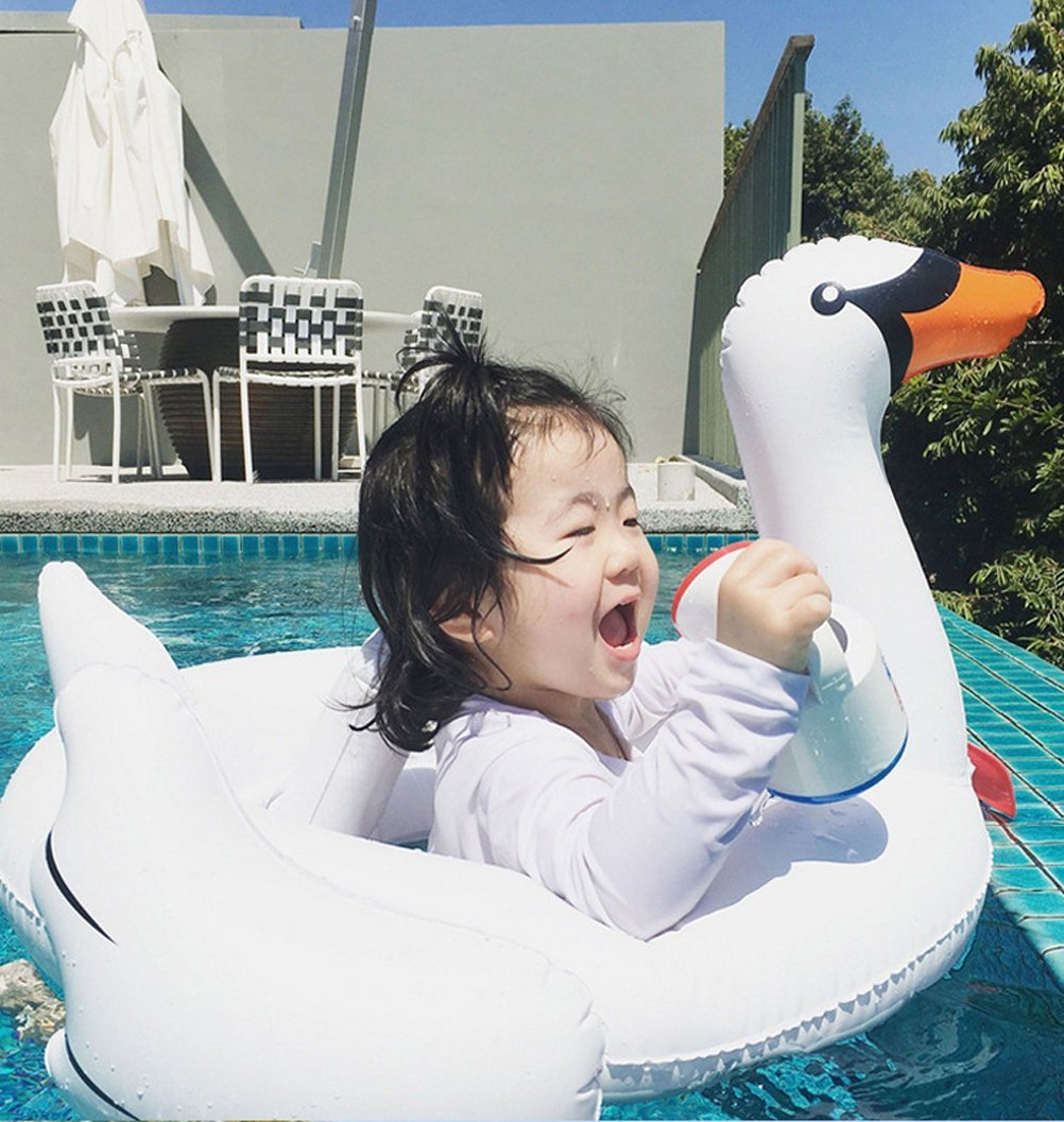 Casa jardín gigante cisne hinchable flotador blanco inflable Flota en la piscina rápidos especiales para bebé de 0 a 4 años, blanco, Talla única: Amazon.es: ...