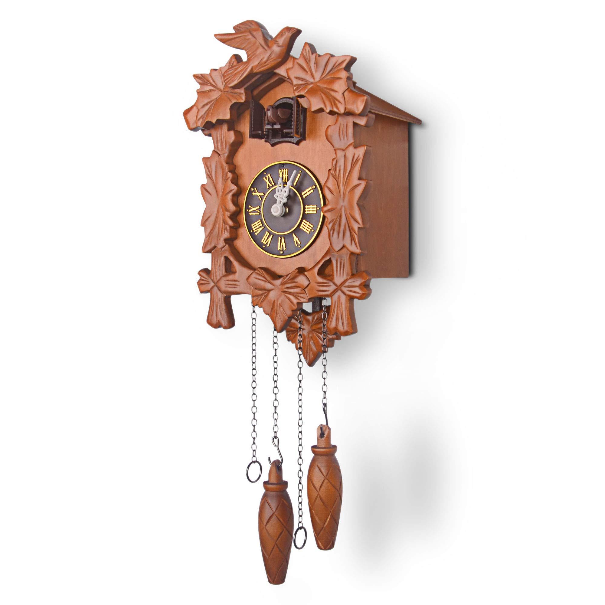 Kendal Handcrafted Wood Cuckoo Clock by Kendal