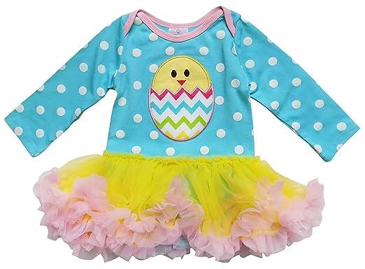 72750cf0cff So Sydney Infant Baby Girls Skirted Tutu Bodysuit Easter Holiday Spring  Romper (XS (0