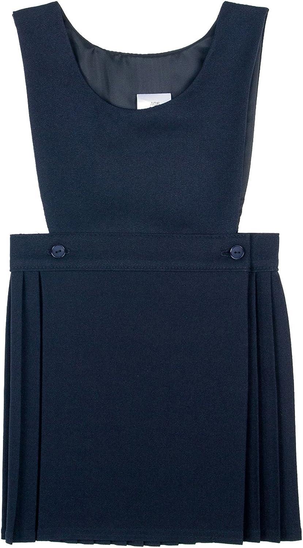 New School Uniform Girls Wrapover Bib Pinafore Size 2-17 Years