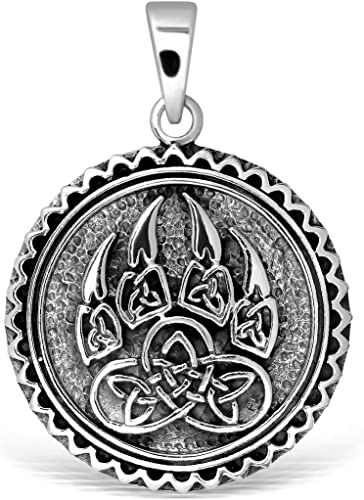 Triquetra Trinity Knot Celtic Norse Viking Necklace Silver Rope Cord Gift Bag