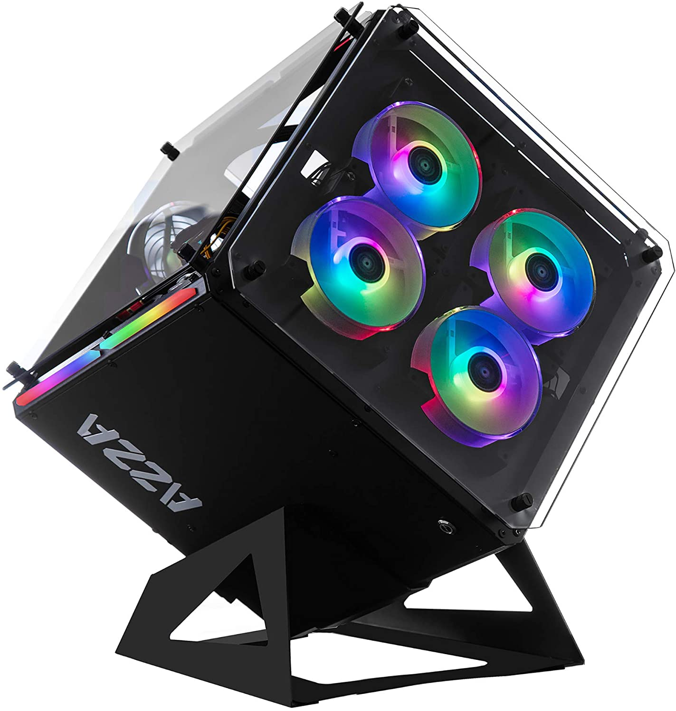 Azza Cube 802 Full-Tower Negro - Caja de Ordenador (Full-Tower, PC, SPCC, Negro, ATX,Micro ATX,Mini-ITX, Juego): Amazon.es: Informática