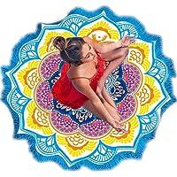 Starall Yoga Mat, Boheemse Lotus Yoga Strand Mat Deken Muur Opknoping Indian Mandala Tapestry Met Kwastje