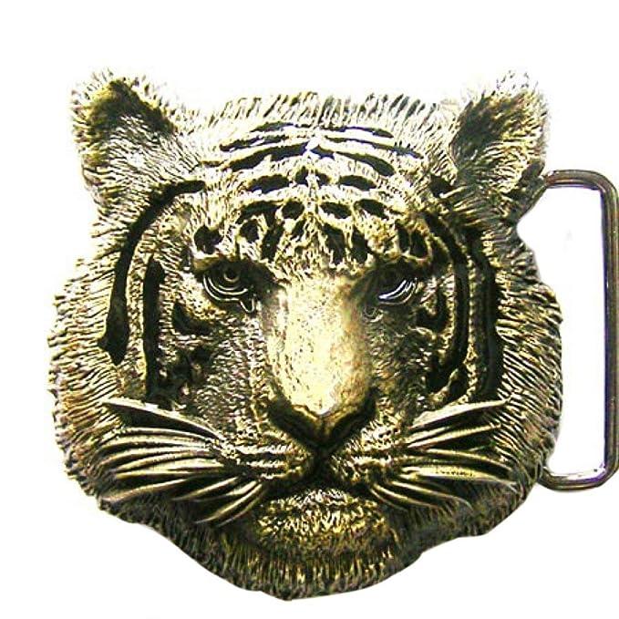 Buckle Goldener Tigerkopf Tiger Gürtelschnalle