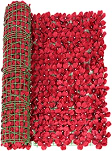 YYDS Artificial Privacy Fence, Artificial Leaf Screening Roll, Garden Fence Screening, Artificial Flower Fence Panels for Garden, Balcony, Wall Decor, 1M X 3M, 0.5M X 3M