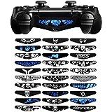 eXtremeRate 30 x Stickers Light Bar Decal Aufkleber Sticker Skin Licht Bar Abziehbild für Playstation 4, Dualshock 4, PS4 Slim,PS4 Pro Kontroller(Skull-Design)