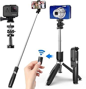 SYOSIN Palo Selfie Trípode con Control Remoto Bluetooth, 4 en 1 ...