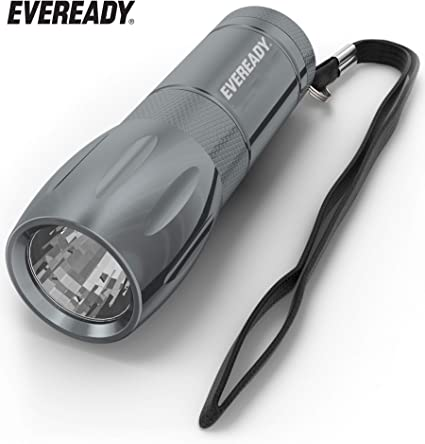 Metal 2 Eveready LED Pocket light Compact Flashlight Bright White W// BATTERIES