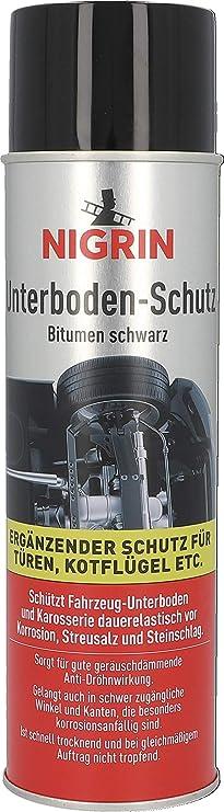 Nigrin 74034 Unterbodenschutz Spray 500 Ml Haftfähig Korrosionsschutz Für Den Unterboden Von Autos Schwarz Auto