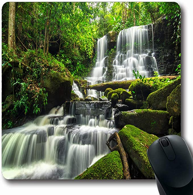Luancrop Alfombrillas Parque Tropical Cascada Bosque Verde Selva ...