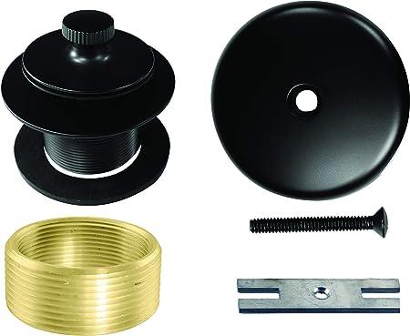 Brushed Nickel Bathtub Touch  Toe Drain Overflow Plate Trim Conversion Kit RV