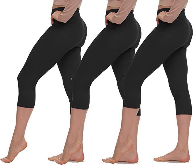 LMB Extra Soft Capri Leggings with High Yoga Wast - Many Colors - XS to 3XL