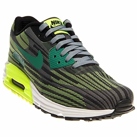 Nike Men\u0027s Air Max Lunar90 JCRD, MGNT GREY/MYSTC GREEN-VOLT-ANTHRCT