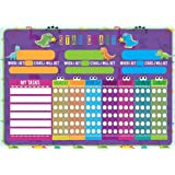 NEXX Magnetic Star Reward Chart – Fully Customisable Kids Behavior/Chore Chart – Ideal for Growing Kids, Toddlers, Teens – Accelerated Learning & Behavior Training (Star Reward Chart)
