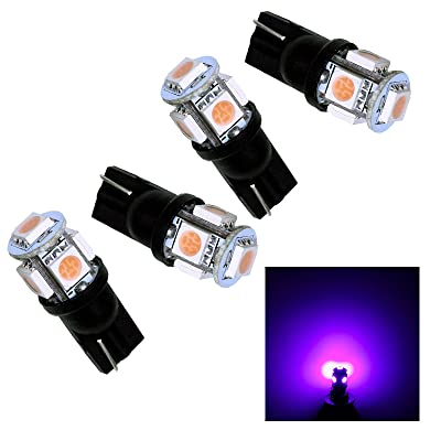 PA 4pcs 5 SMD LED T10 921 T15 194 Auto Side Marker Light/Tail Light/Turn Signal Light/Driving Light Bulbs Purple-12V: Automotive