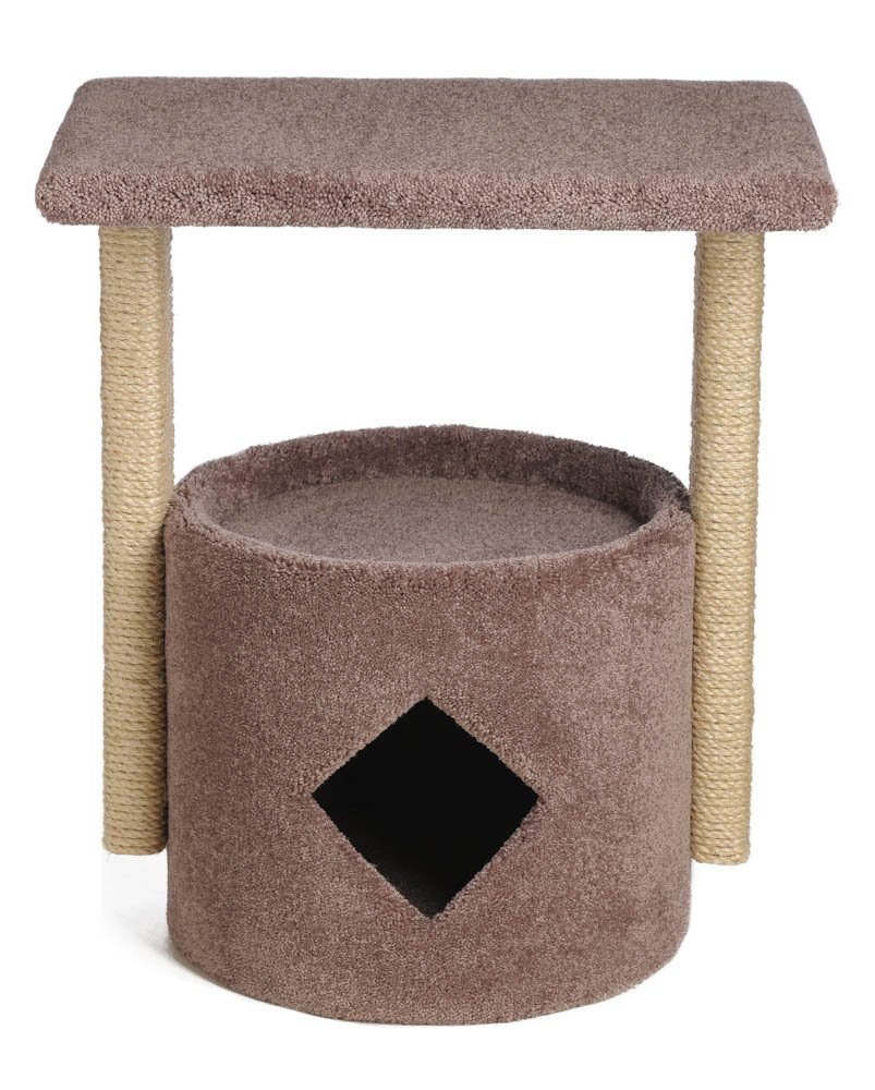 Tom Cat Perch with 2 Sisal Posts (Brown)