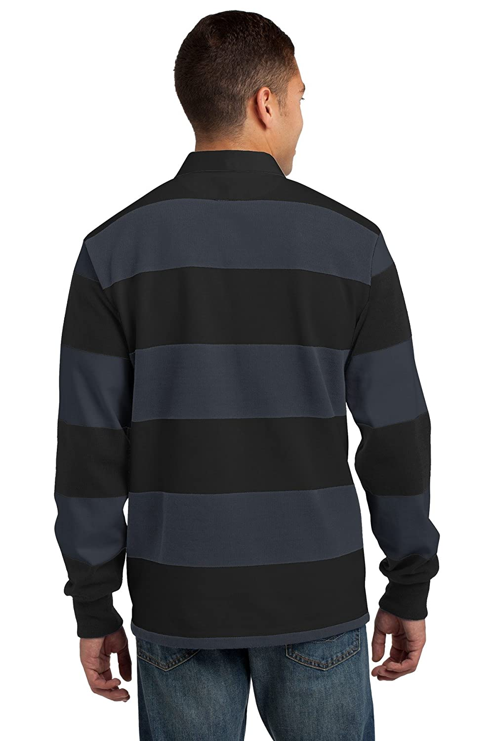 e6be001a9e0 Sport-Tek Classic Long Sleeve Rugby Polo. ST301 at Amazon Men's Clothing  store:
