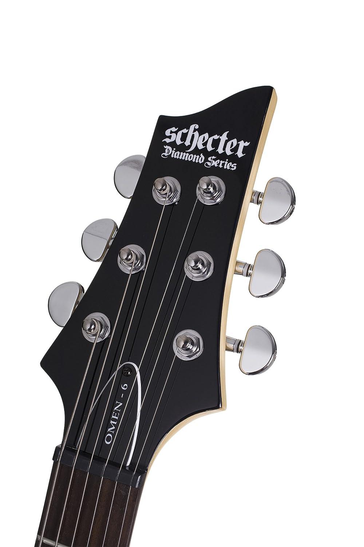 Schecter omen-6 Guitarra Eléctrica (Negro Brillante): Amazon.es: Instrumentos musicales