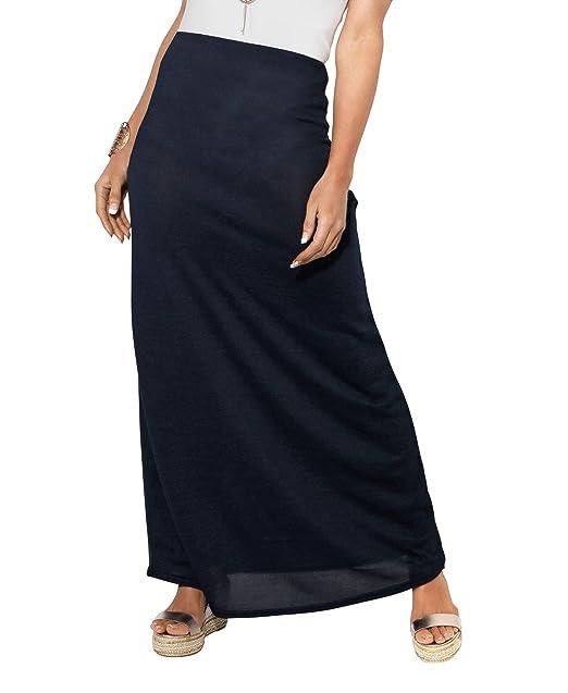 c4961f8d0 KRISP Falda Larga Mujer Boho Hippies Bohemia Elegante Vuelo Talla Grande  Cintura Alta Elástica