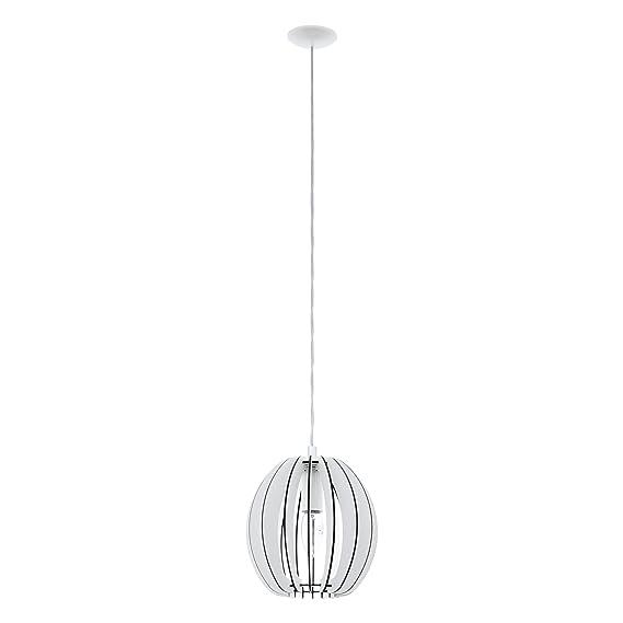 Design Lampe Leuchte Hängeleuchte Pendelleuchte Stahl Holz ahorn weiß Ø70cm