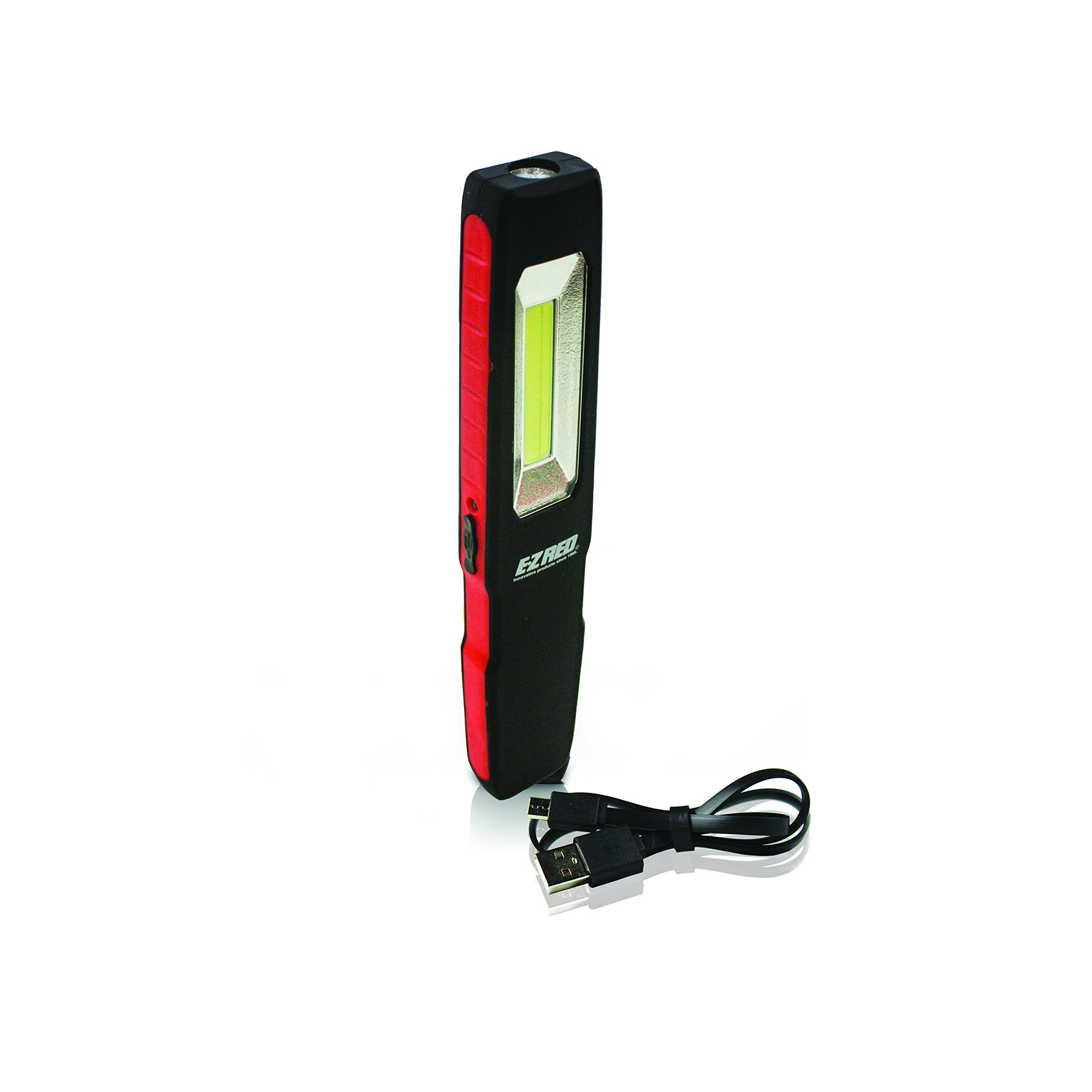 EZ RED PL175R 175 Lm Dual Beam USB Rechargeable Slim Pocket Light, Red
