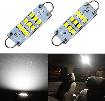 4-Pack 44mm 1.73 White 211-2 212-2 561 562 567 564 RL4410 Non-Polarity Festoon LED Bulb 3014 9 SMD 12V Rigid Loop Interior Light for Dome Map Buick Engine Compartmen Bulb