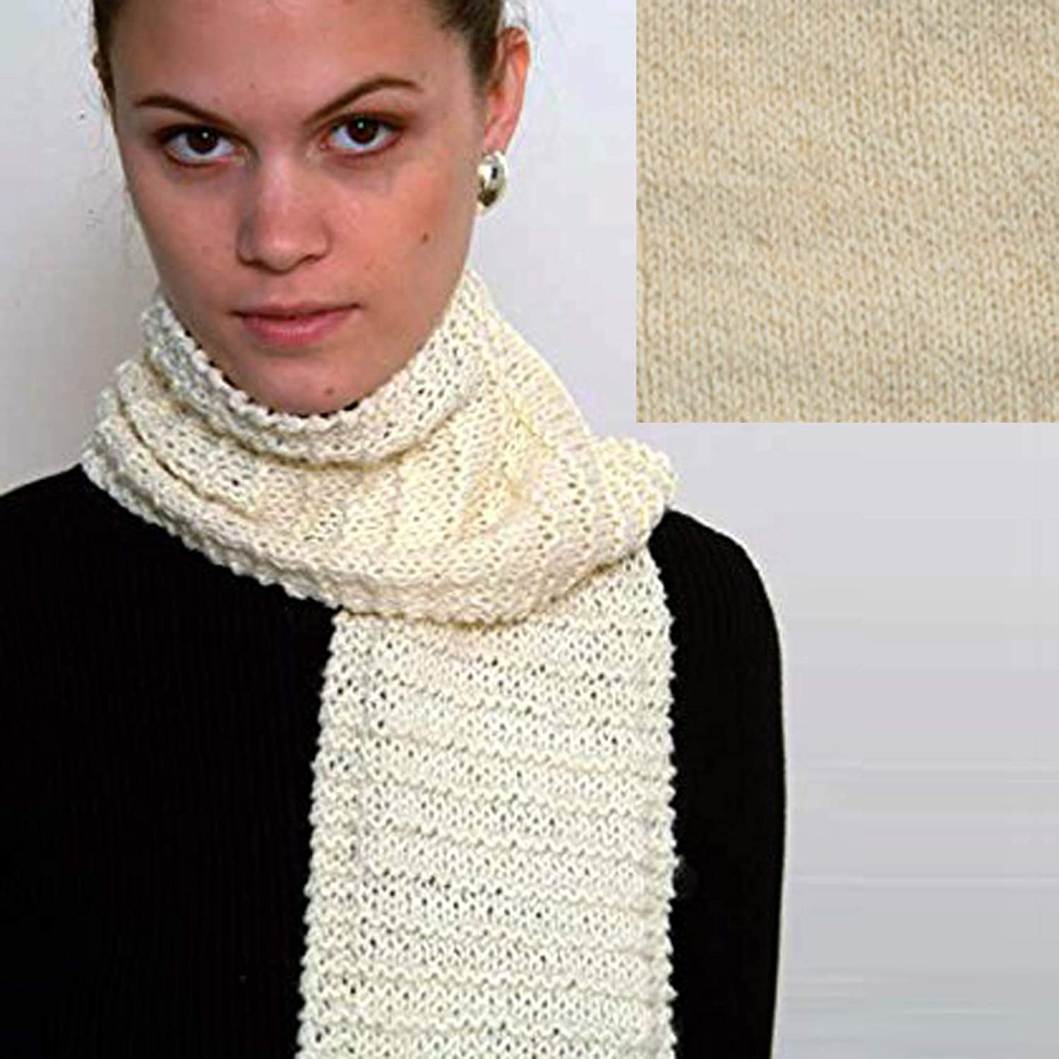 Blue Jeans Mix Beginners Scarf Knit Kit with Encore Worsted Yarn