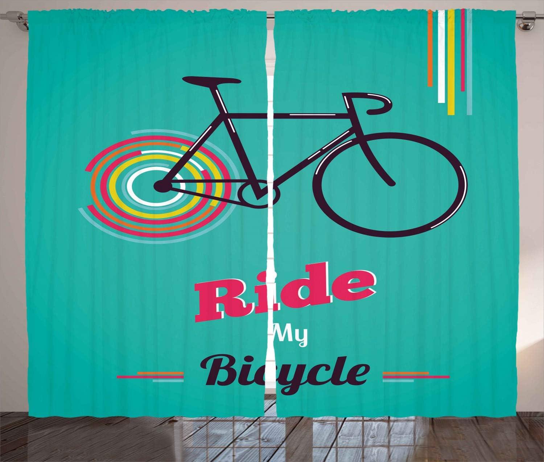 ABAKUHAUS Clásico Cortinas, Diseño Retro de la Bicicleta, Sala de ...