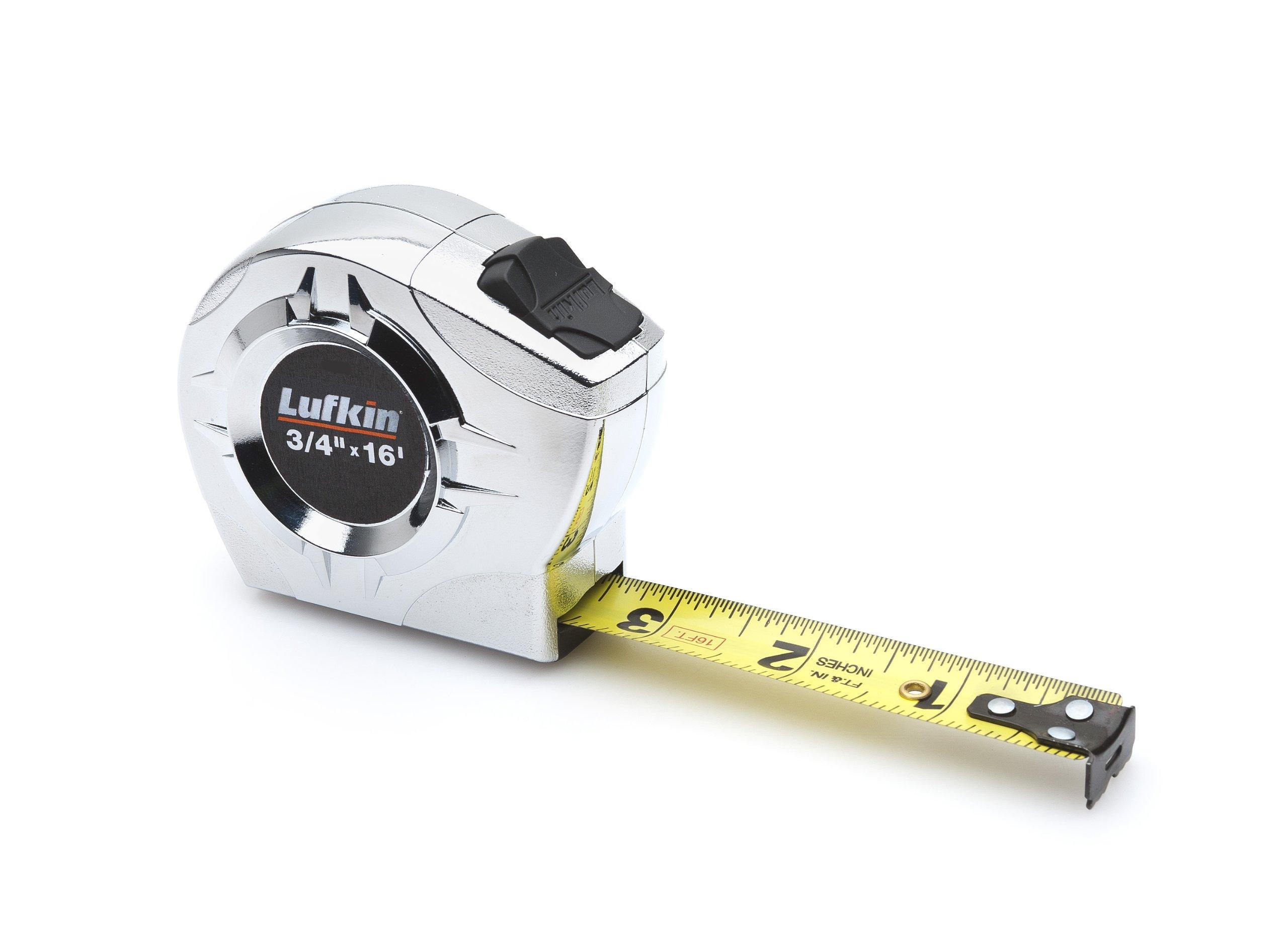 Lufkin P2316 Power Return Tape, 3/4-Inch by 16-Feet, Chrome