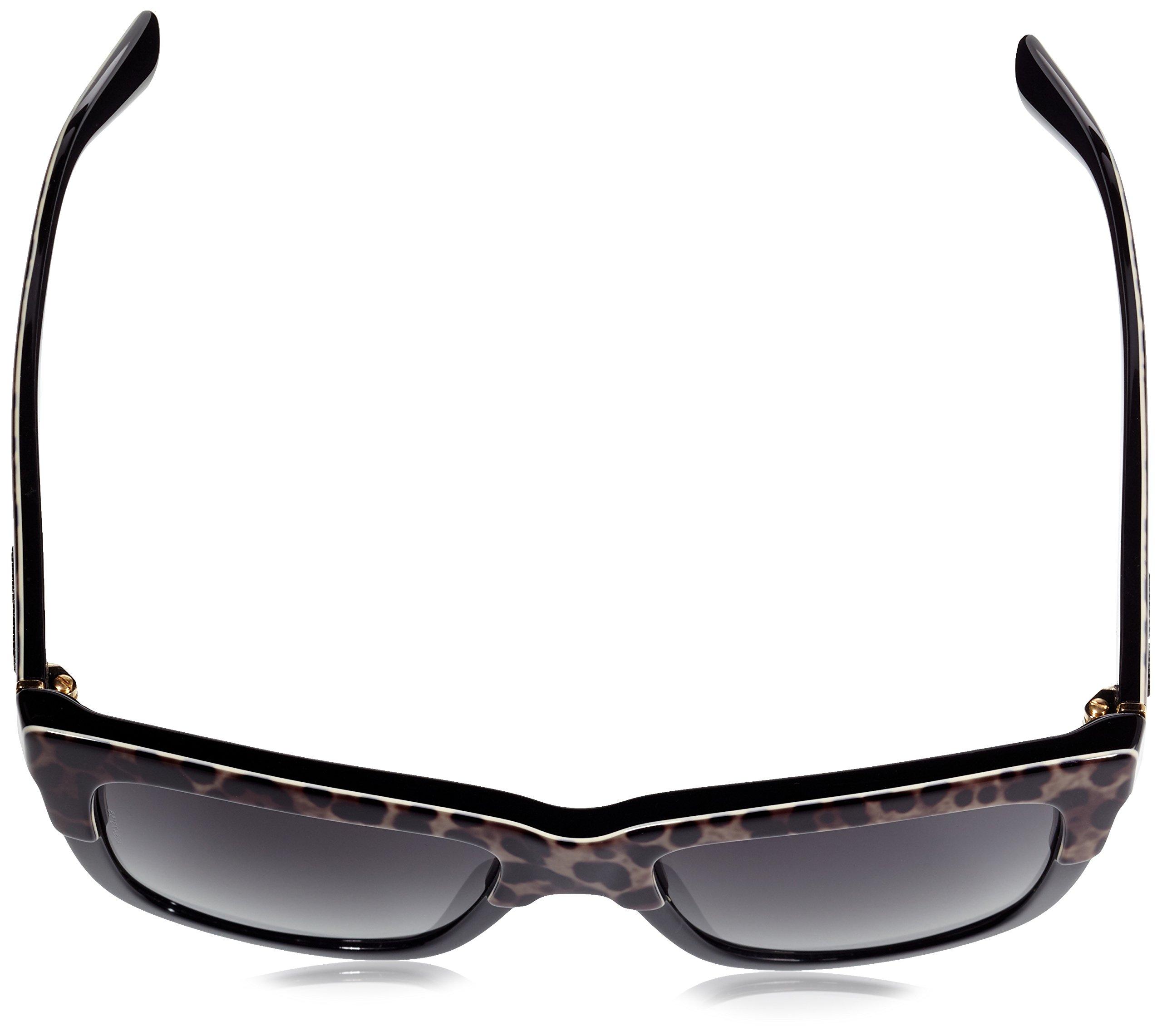D&G Dolce & Gabbana Womens 0DG4262 Polarized Square Sunglasses, Top Leo On Black, 54 mm by Dolce & Gabbana (Image #4)