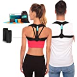 Posture Corrector – Adjustable Clavicle Brace to Comfortably Improve Bad Posture for Men and Women - Posture Corrector for Wo